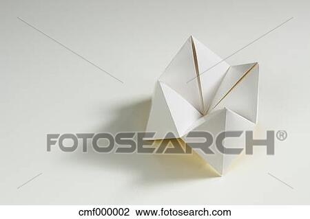 Stock Photo Of Origami Fortune Teller On White Background Cmf000002