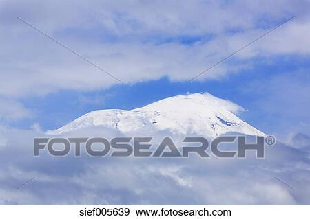 Turkey, Eastern Anatolia, Agri Province, View to Mount Ararat and clouds  Stock Photo