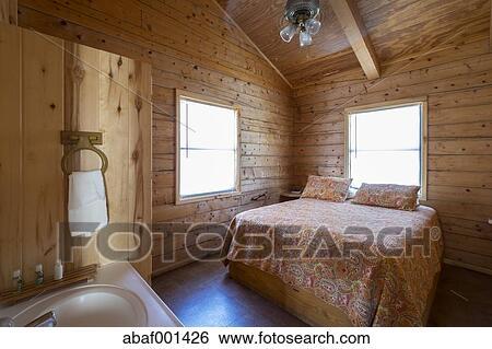 Usa, texas, chambre à coucher, à, salle bains, vanité, dans ...