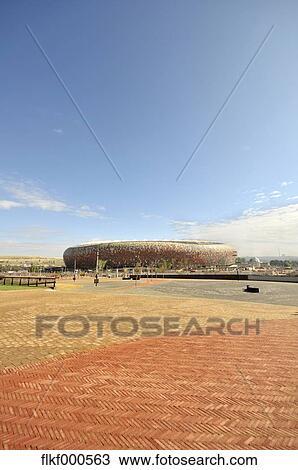Africa, South Africa, Johannesburg, Soweto, Soccer City Stadium Stock Image