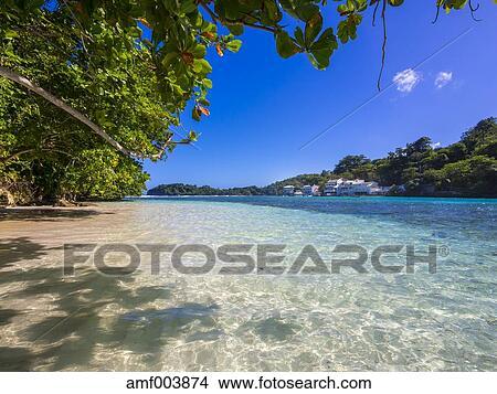 Jamaica Port Antonio Blue Lagoon With Luxury Villas In