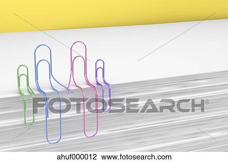 3d Ubertragung Buroklammern Haendchen Halten Familie Clip Art