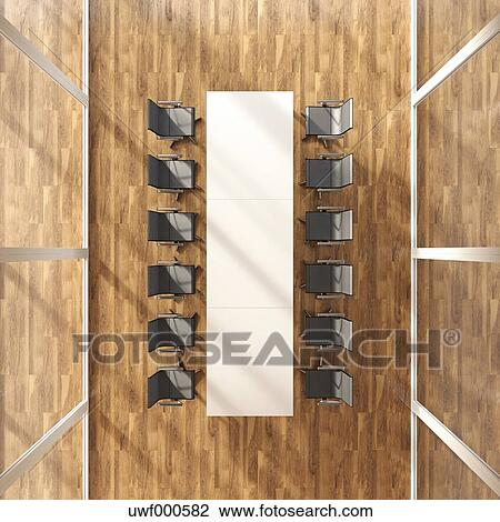 Pleasant Modern Conference Table And Chairs On Parquet 3D Rendering Squirreltailoven Fun Painted Chair Ideas Images Squirreltailovenorg