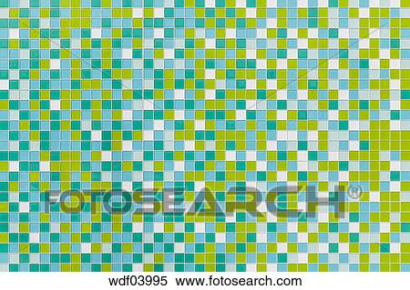Coloured tiles made of glass Stock Photography