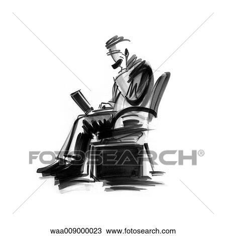 Dessin Noir Blanc Illustration Informatique Mobile Informatique Travail Dessin