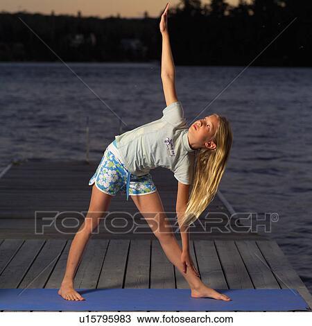 Teenage Girl Doing Yoga Stock Image U15795983 Fotosearch
