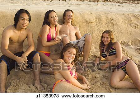 Teens at the beach pictures